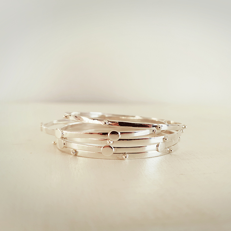 Grained Bangles