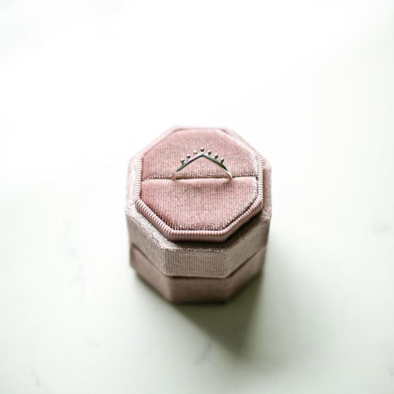 Grained Wishbone Ring
